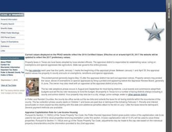 Main page screenshot of prad.org