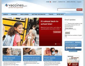 Thumbshot of Vaccines.gov
