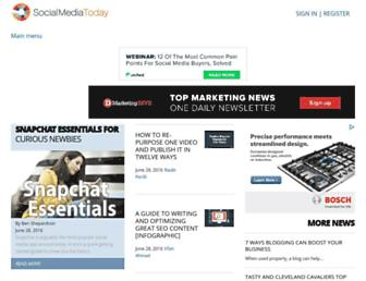 socialmediatoday.com screenshot
