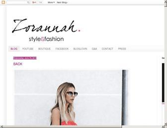 zorannah.com screenshot