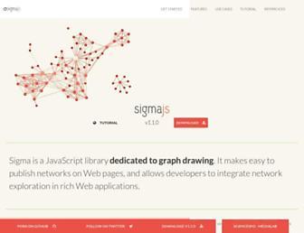 sigmajs.org screenshot