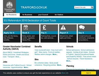 Main page screenshot of trafford.gov.uk
