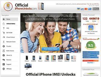 officialiphoneunlock.co.uk screenshot