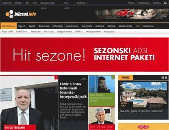 Main page screenshot of bljesak.info