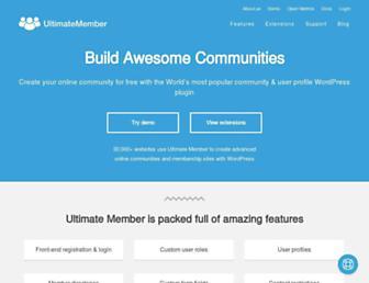 ultimatemember.com screenshot