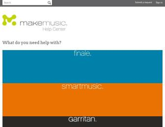 makemusic.zendesk.com screenshot