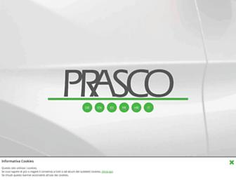Main page screenshot of prasco.net