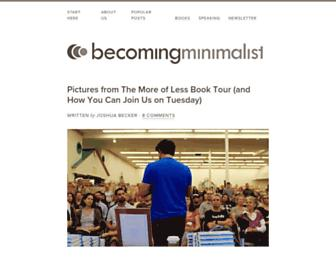 becomingminimalist.com screenshot