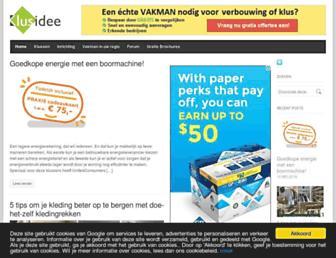 Main page screenshot of klusidee.nl