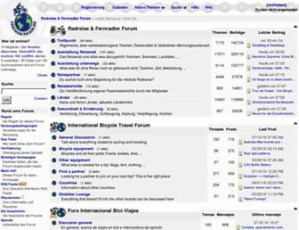 Main page screenshot of rad-forum.de