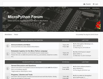 forum.micropython.org screenshot