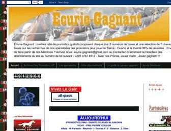 ecurie-gagnant.blogspot.com screenshot