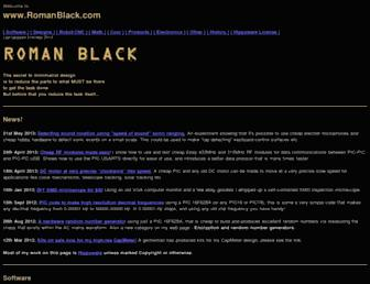 romanblack.com screenshot