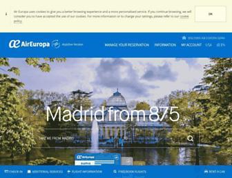 Thumbshot of Aireuropa.com