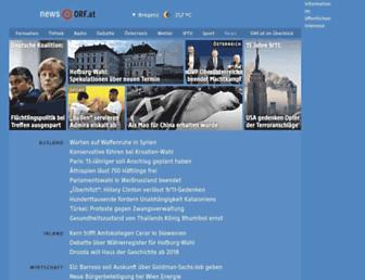 Main page screenshot of news.orf.at