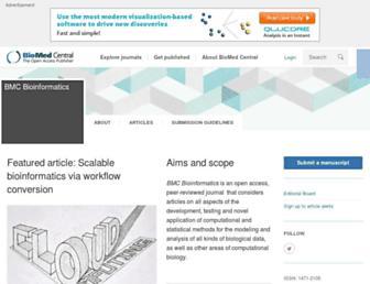 bmcbioinformatics.biomedcentral.com screenshot