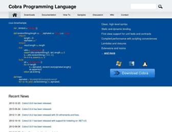 Thumbshot of Cobra-language.com