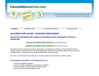 cancellationservice.com screenshot