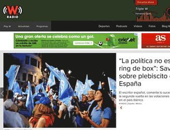 Main page screenshot of wradio.com.mx