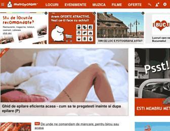 Main page screenshot of metropotam.ro