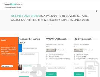 Thumbshot of Onlinehashcrack.com