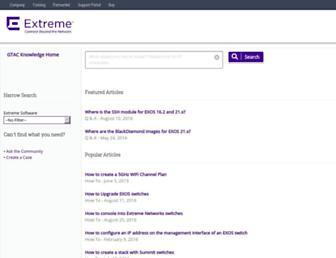 gtacknowledge.extremenetworks.com screenshot