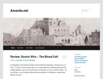 Main page screenshot of journal.amanita.net