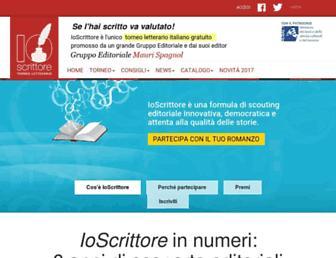 Main page screenshot of ioscrittore.it