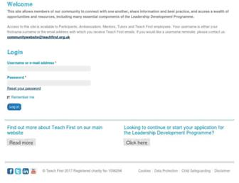 community.teachfirst.org.uk screenshot