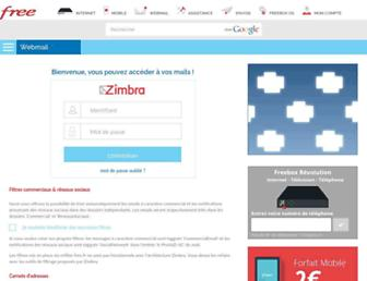 Thumbshot of Zimbra.free.fr