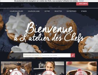 Thumbshot of Atelierdeschefs.fr