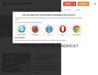 teachforamerica.org screenshot