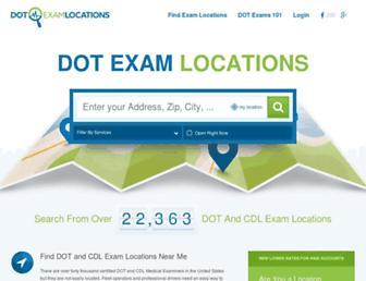 dotexamlocations.com screenshot