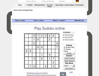 sudoku-space.com screenshot