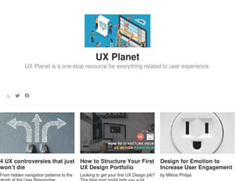 uxplanet.org screenshot