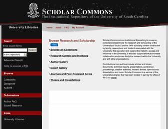 scholarcommons.sc.edu screenshot