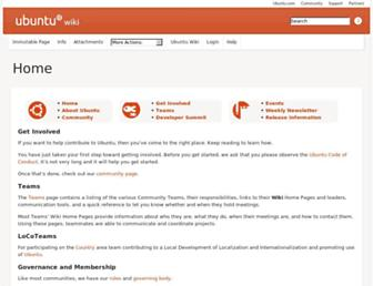 wiki.ubuntu.com screenshot