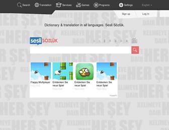 seslisozluk.net screenshot