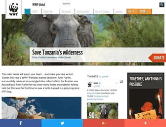 wwf.panda.org screenshot