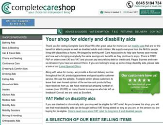 completecareshop.co.uk screenshot