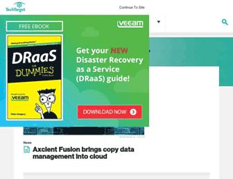 searchdisasterrecovery.techtarget.com screenshot