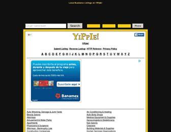 Main page screenshot of yippie.biz