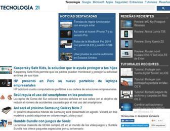 tecnologia21.com screenshot