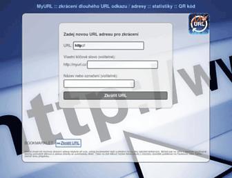 Thumbshot of Myurl.cz