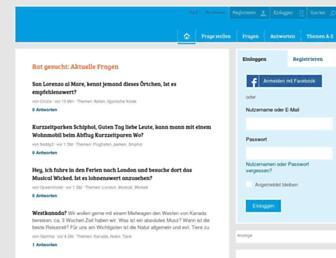 Main page screenshot of reisefrage.net