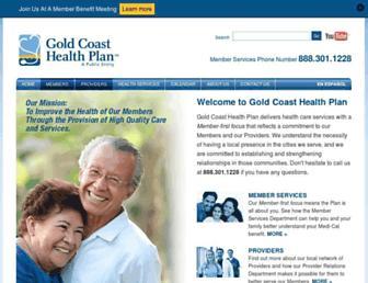 goldcoasthealthplan.org screenshot