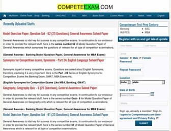 competeexam.com screenshot