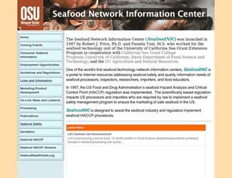 Main page screenshot of seafood.ucdavis.edu