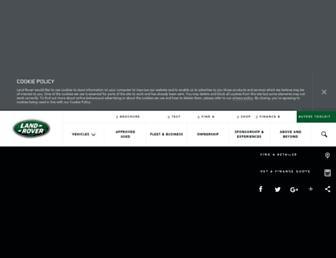 landrover.co.uk screenshot