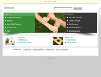 Main page screenshot of aomol.net